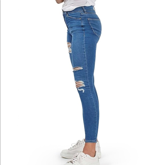 43edf9a1925 Topshop Jeans | Moto Leigh Super Ripped Ankle Skinny Jean | Poshmark